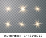 glowing lights effect. star... | Shutterstock .eps vector #1446148712