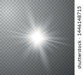glow light effect. starburst... | Shutterstock .eps vector #1446148715