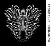 zebra illustration tee graphic... | Shutterstock .eps vector #1446158315