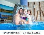 Happy Family Under The Fountain ...