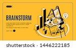 brainstorm isometric landing... | Shutterstock .eps vector #1446222185