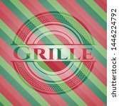 grille christmas emblem...   Shutterstock .eps vector #1446224792