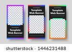 template of vertical black web... | Shutterstock .eps vector #1446231488