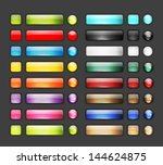 set of glossy button icons for... | Shutterstock .eps vector #144624875