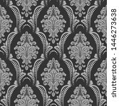 vector damask seamless pattern... | Shutterstock .eps vector #1446273638