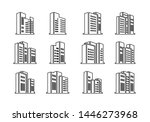 perspective black icons... | Shutterstock .eps vector #1446273968