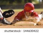 Closeup Of A Baseball Player...