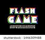 vector bright emblem flash game ... | Shutterstock .eps vector #1446309488