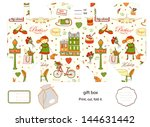favor  gift  product box die... | Shutterstock . vector #144631442