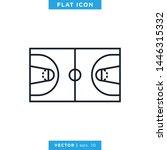 basketball court icon vector...