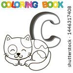 Vector Coloring Book Alphabet...