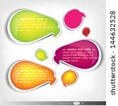 paper origami speech bubble.... | Shutterstock .eps vector #144632528