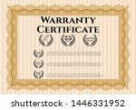 orange vintage warranty... | Shutterstock .eps vector #1446331952