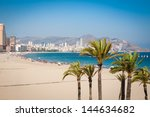 Benidorm Beach In Summertime.