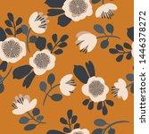 seamless vector floral pattern. ... | Shutterstock .eps vector #1446378272