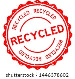 grunge red recycled word round... | Shutterstock .eps vector #1446378602