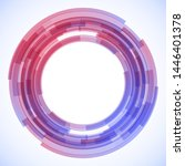geometric frame from circles ... | Shutterstock .eps vector #1446401378