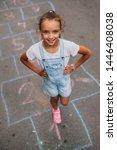 Little Girl On The Hopscotch