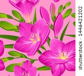 vector pattern with blooming... | Shutterstock .eps vector #1446421202