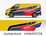 van wrap design. wrap  sticker... | Shutterstock .eps vector #1446453728
