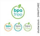 bpa free badge  logo  icon....   Shutterstock .eps vector #1446471482