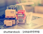 logistics and supply chain... | Shutterstock . vector #1446495998