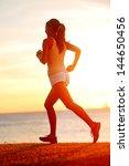 Jogging Athlete Woman Running...