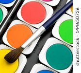 set paints watercolors with... | Shutterstock . vector #144650726