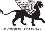 the silhouette of a gryphon... | Shutterstock .eps vector #1446507698