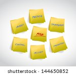 risk management concept post... | Shutterstock . vector #144650852