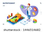 dietician or nutritionist with... | Shutterstock .eps vector #1446514682