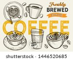 coffee illustration for... | Shutterstock .eps vector #1446520685