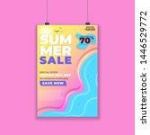 summer sale promotional poster...   Shutterstock .eps vector #1446529772