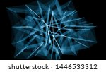 abstract blue background. lines ... | Shutterstock . vector #1446533312