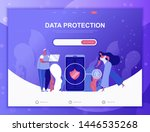 data protection flat concept...