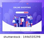 online shopping flat concept...