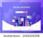 online shopping flat concept...