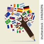 global countries  concept... | Shutterstock .eps vector #144656096