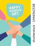 happy friendship day... | Shutterstock .eps vector #1446562538