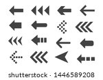 set of black vector arrows. | Shutterstock .eps vector #1446589208