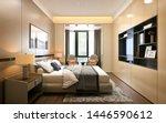 Stock photo  d render of luxury hotel room 1446590612