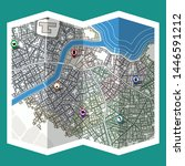 design map city gps with... | Shutterstock .eps vector #1446591212
