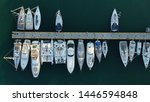 aerial top view photo of boats... | Shutterstock . vector #1446594848