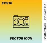 camera vector icon illustration....