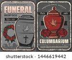 funeral ceremony vintage design ... | Shutterstock .eps vector #1446619442