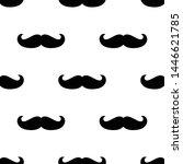 seamless hipster mustache... | Shutterstock .eps vector #1446621785