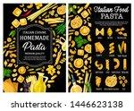 pasta  italian food vector menu ... | Shutterstock .eps vector #1446623138