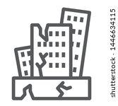 earthquake line icon  disaster...   Shutterstock .eps vector #1446634115