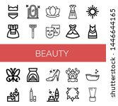 set of beauty icons such as... | Shutterstock .eps vector #1446644165