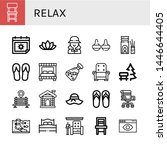 set of relax icons such as... | Shutterstock .eps vector #1446644405